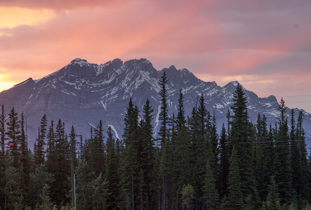 Sunset at the Bow River Loop, Canmore