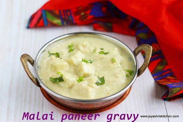 White gravy paneer