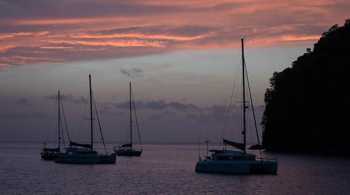 caribbean marigotbay stlucia westindies sea water yacht