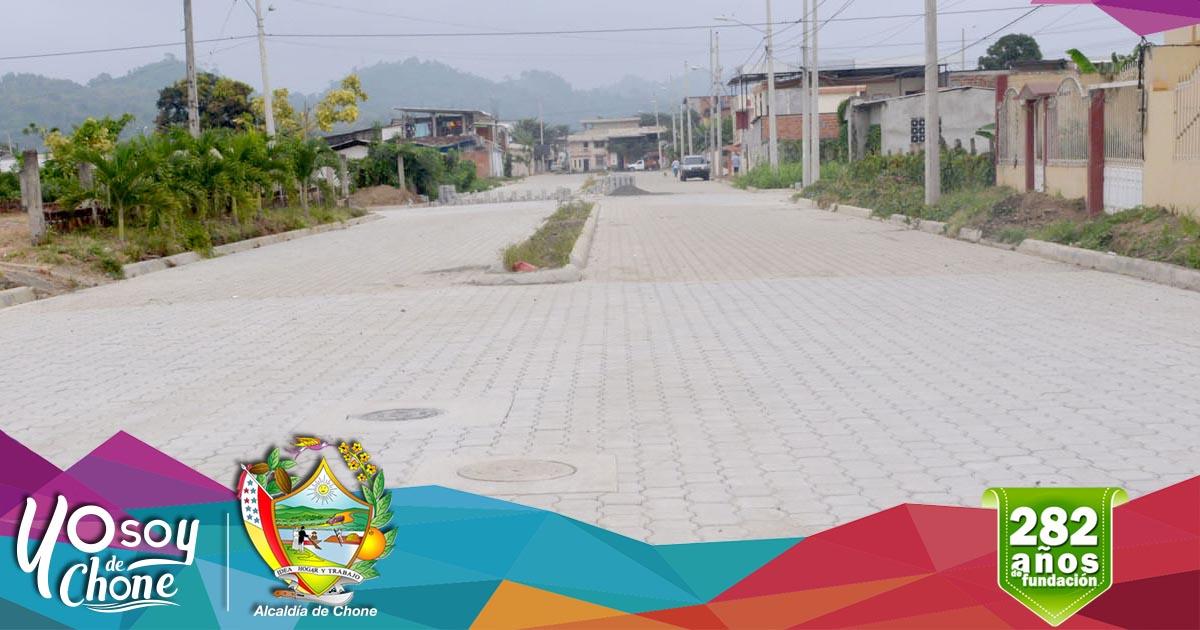 Alcaldía de Chone inaugurará obra en ciudadela San Rafael