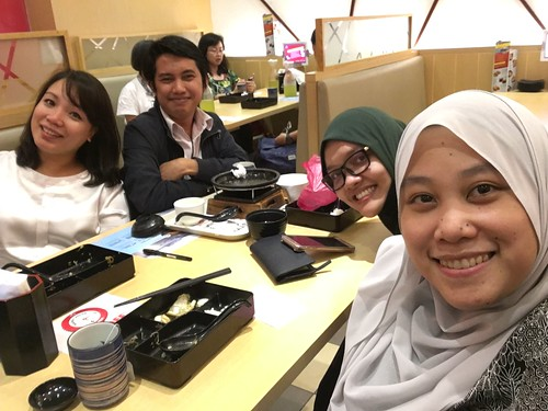 Farewell lunch @ Sushi King, Mid Valley