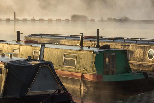 Narrow Boats and Mist