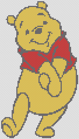 Preview of Winnie The Pooh Cross Stitch 2