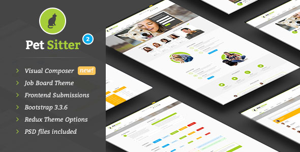 PetSitter v2.2.0 – Job Board Responsive WordPress Theme