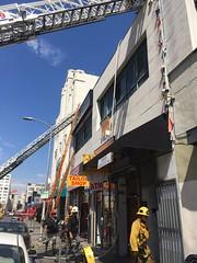Attic Fire in DTLA Commercial Building