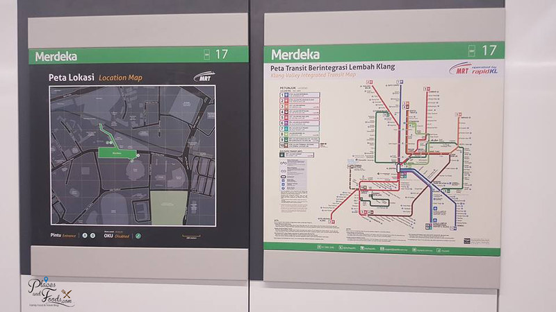MRT Merdeka Station map