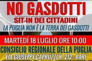Bari. Sit-in gasdotti front