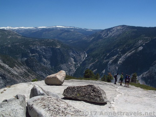 Overlooking Vernal Falls from North Dome in Yosemite National Park, California