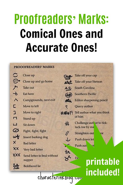 Proofreaders' Marks Comical Ones and Accurate Ones! (Printable Included!)