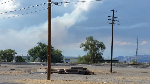 Fire Near Wadsworth