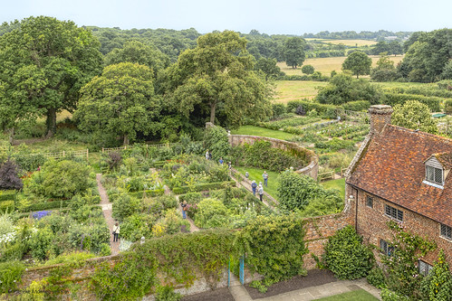 View of Sissinghurst Castle Garden, created by Vita Sackville-West