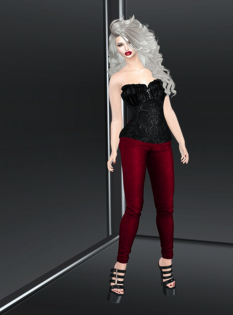 Sn@tch Lavinia Suede and Silk Corset 1