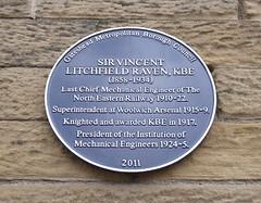 Photo of Vincent Litchfield Raven blue plaque