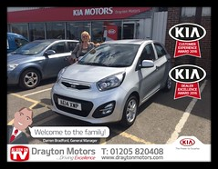 Mrs Martin collecting her Picanto from Adrian. Mrs Martin is a new customer of ours so we would like to welcome you to our Family!