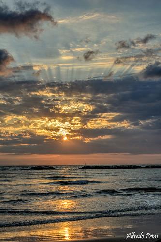 mare vacanze spiaggia alba sunrise romagna acqua onde nikon d5200 platinumheartaward