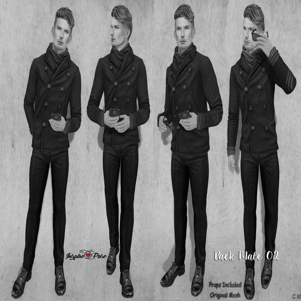 Inspire Pose - Pack Male 02 - SecondLifeHub.com