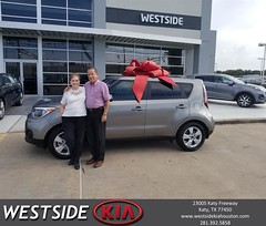 Congratulations Paul on your #Kia #Soul from Antonio Page at Westside Kia!
