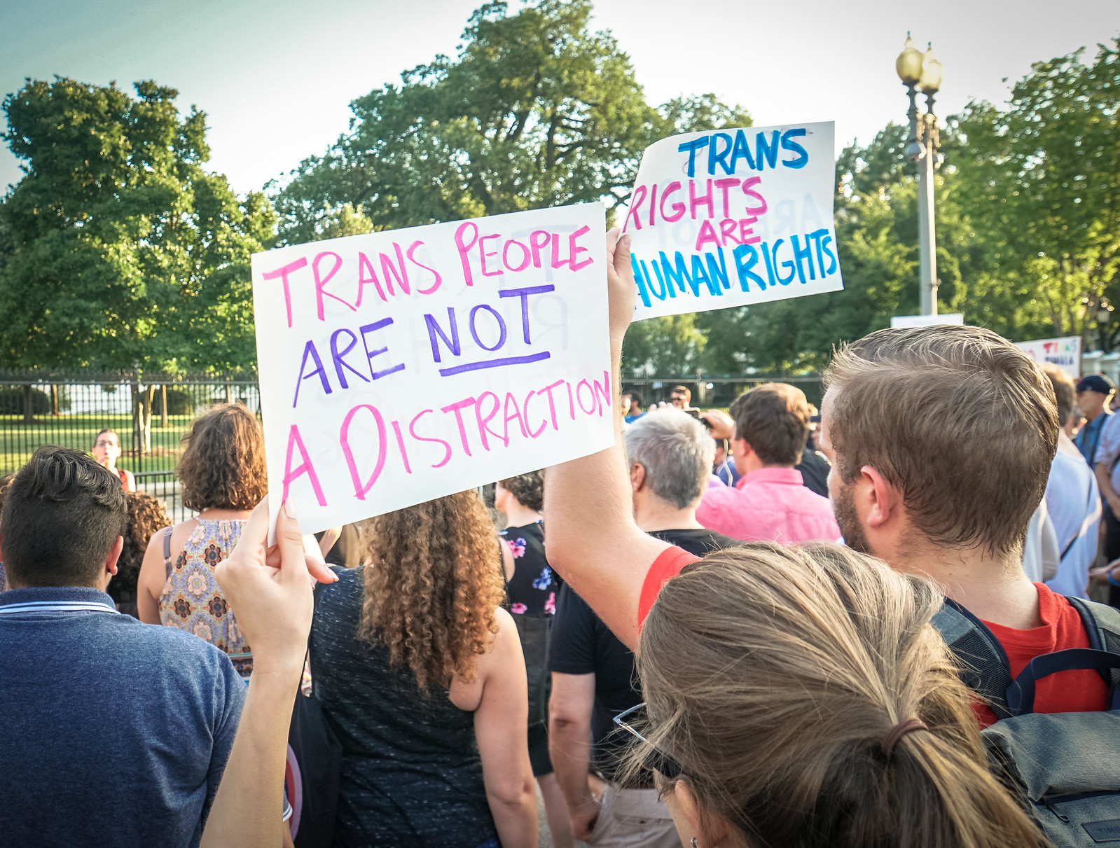 2017.07.26 Protest Trans Military Ban, White House, Washington DC USA 7644