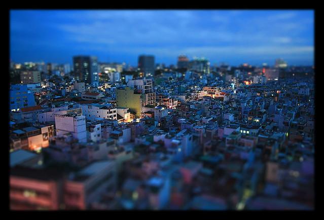 Saigon HCM City VN - Night view - TiltShift