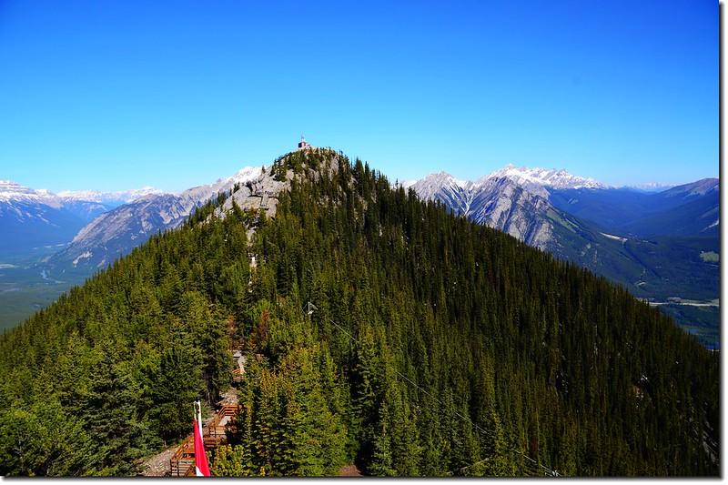 Meteorological station on Sanson Peak & boardwalk trail from Banff Gondola upper terminal