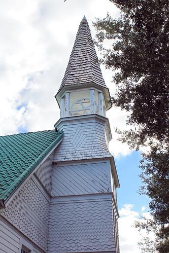 architecture church tower belfry steeple spire mountdora florida