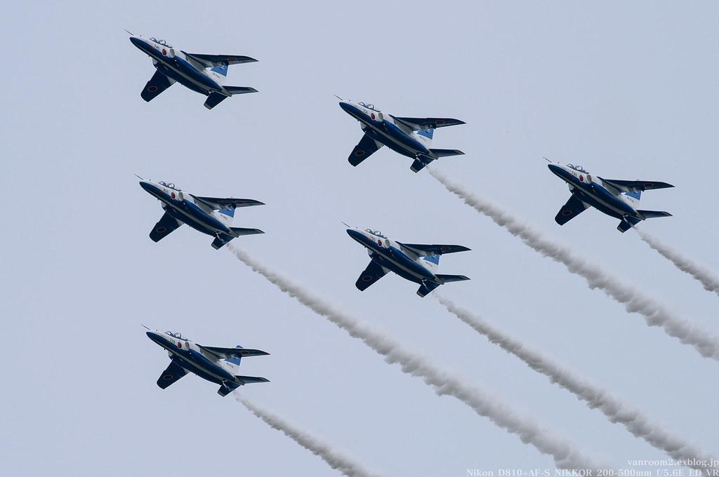 千歳基地航空祭2017 ブルーインパルス 予行