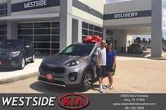 Happy Anniversary to Alison on your #Kia #Sportage from Dennis Celespara at Westside Kia!
