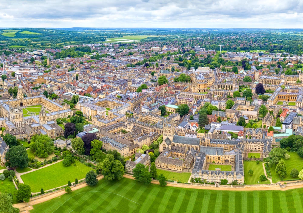 Aerial view of Oxford. Credit Chensiyuan