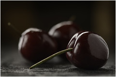Macro Mondays - Three - 3 Cherries