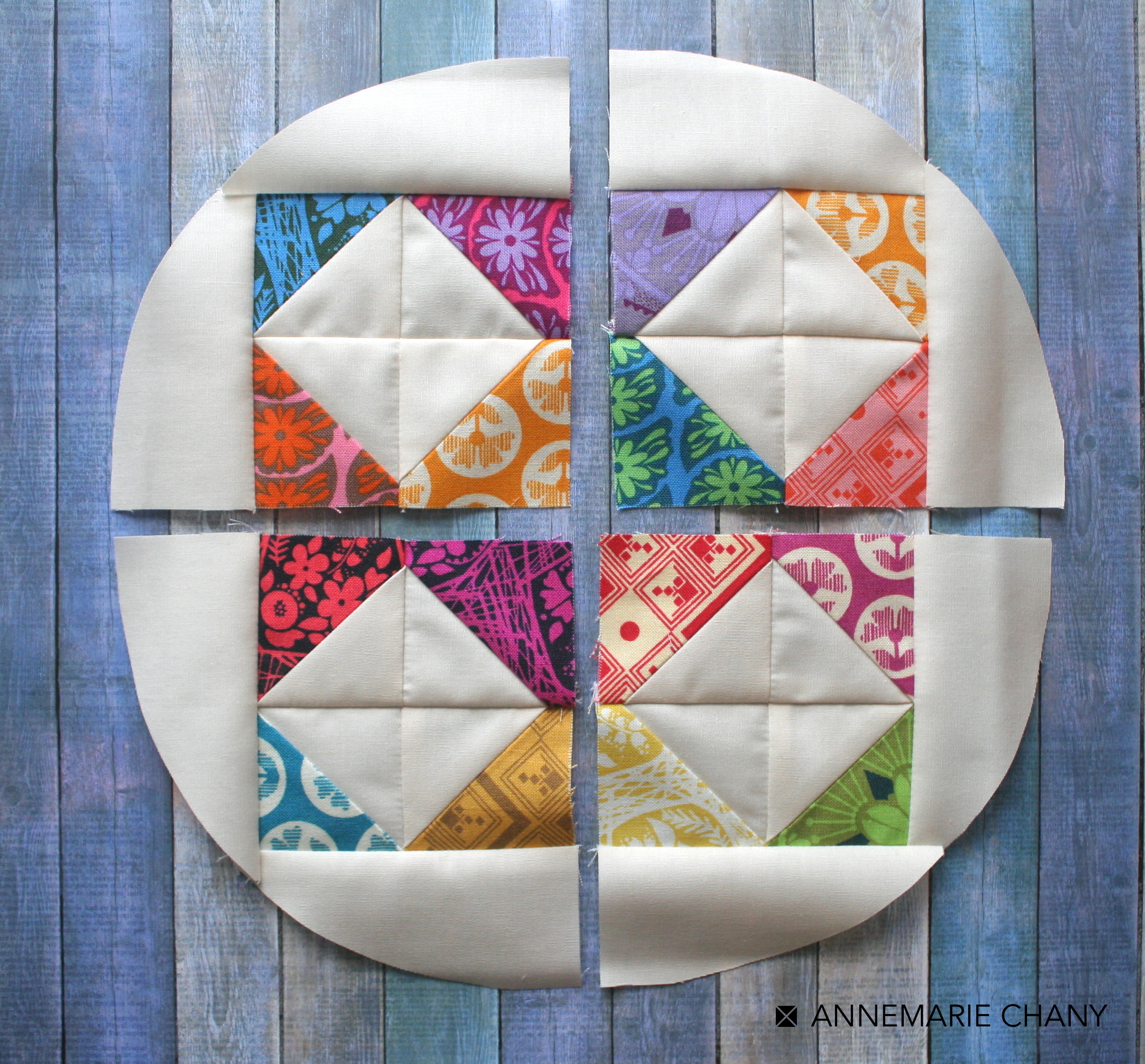 Hoop Quilts quarter Circle Units
