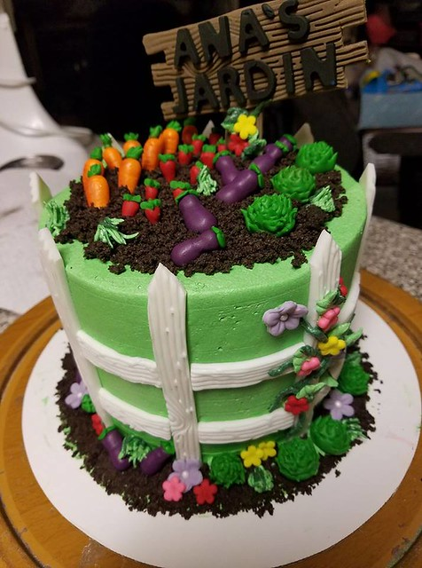 Garden Cake by Rebecca Story of Becky's Cakes & Pastries