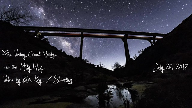 Another Time-Lapse of the Pine Valley Creek Bridge and the Milky Way