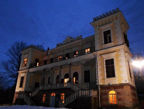 castle vrnjackabanja culture srbija serbia night building architecture vrnjacka spa nikon s2600 history evening winter serbien camera