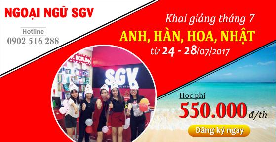 SGV - khai giang khoa hoc tieng anh, han,hoa, nhat