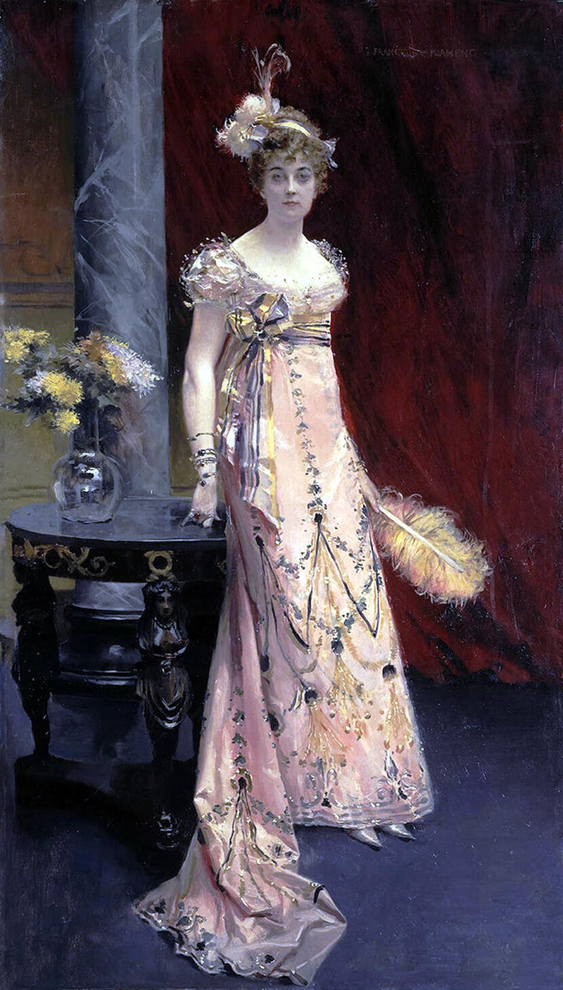 Portrait of the Duchess Dora Leichtenberg by Francois Flameng - 1896