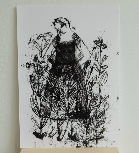 figure within a garden