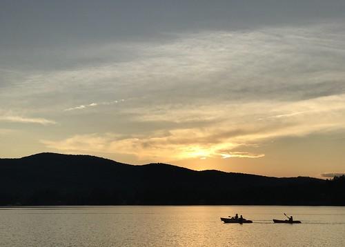 vermont ohana camp sunset waterfront lakefairlee kayak shotoniphone shotoniphone7plus