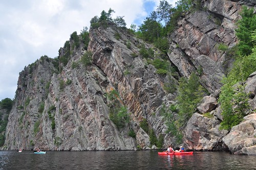 Incredible scale of Mazinaw rock, Bon Echo