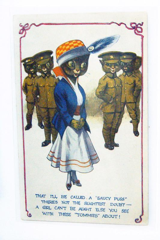 """Открытка из коллекции """"Коты в Первой мировой войне"""""""