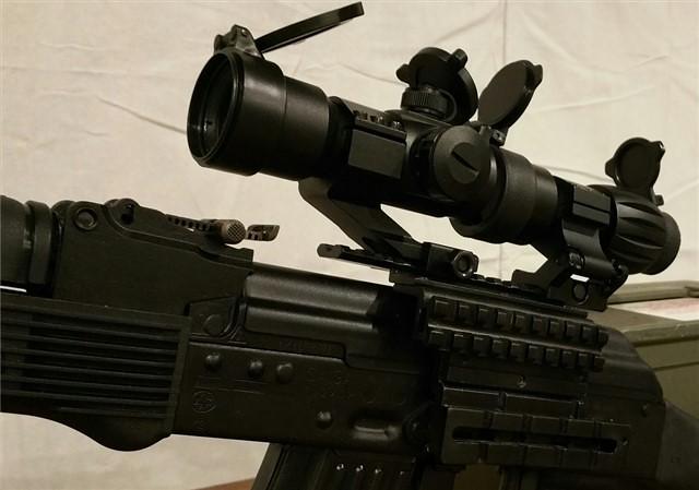 ak47 mount 3x magnifier & red dot2