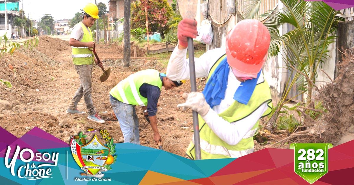Continúan los trabajos en calle Ítalo Colamarco Intriago y Salustio Giler
