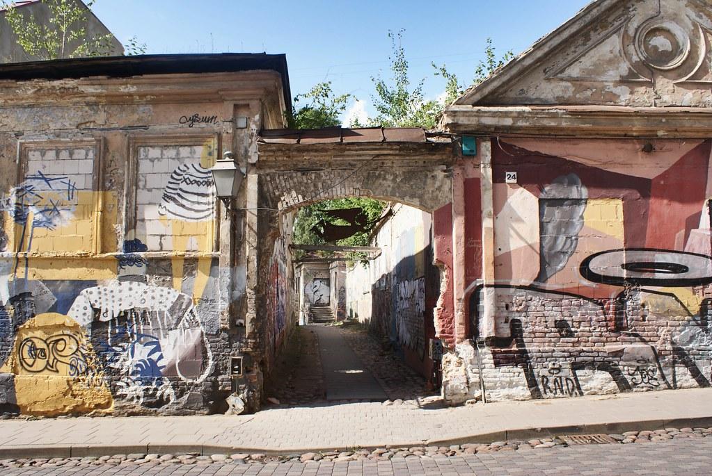 Street art de la République d'Uzupis à Vilnius