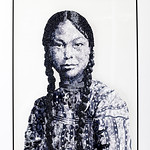 Shelley Rossell; Native American Girl; Collage using photo paper; 2017 -