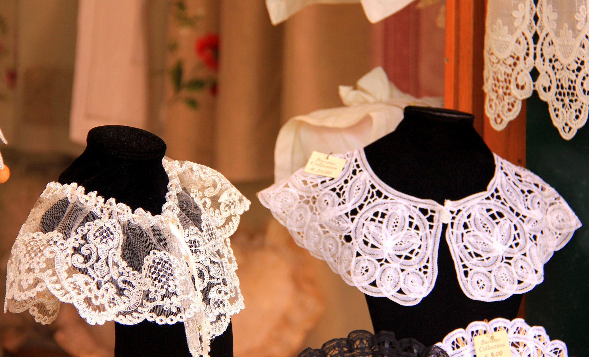 Murano island is famous for lace making.