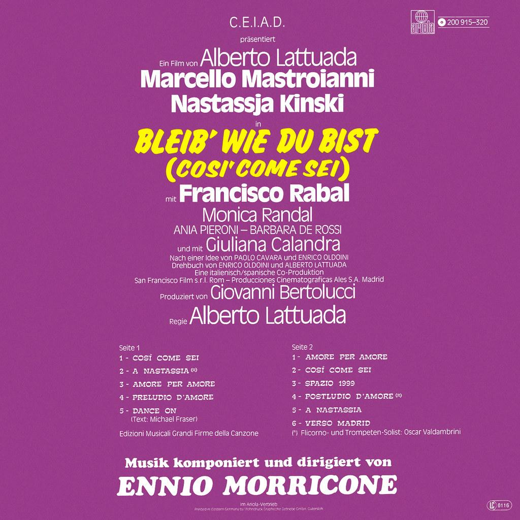 Ennio Morricone - Cosi' Come Sei