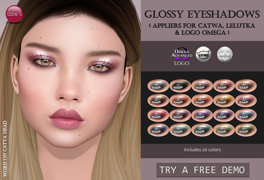 Glossy Eyeshadows - SecondLifeHub.com