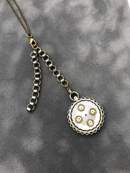 Quilled Steampunk-Inspired Necklace by Deb Mackes