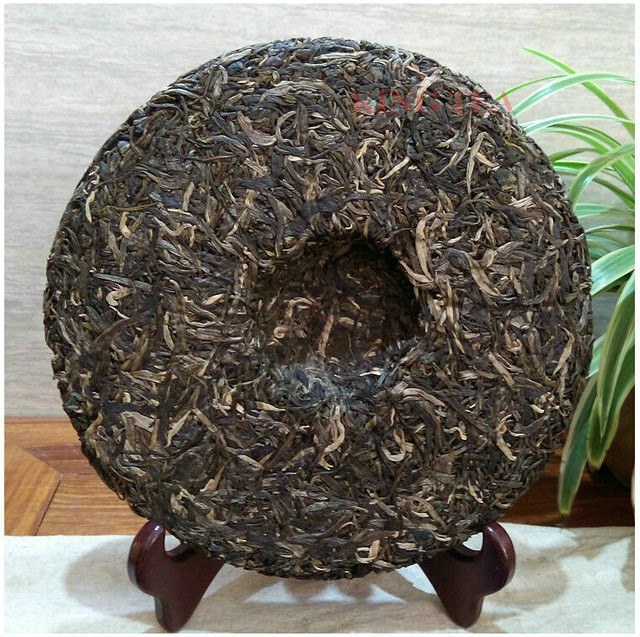 Free Shipping 2015 ShuangJiang MengKu RongShi ( BenWeiDaCheng) Cake Beeng 500g YunNan Organic Bing Puer Raw Tea Sheng Cha
