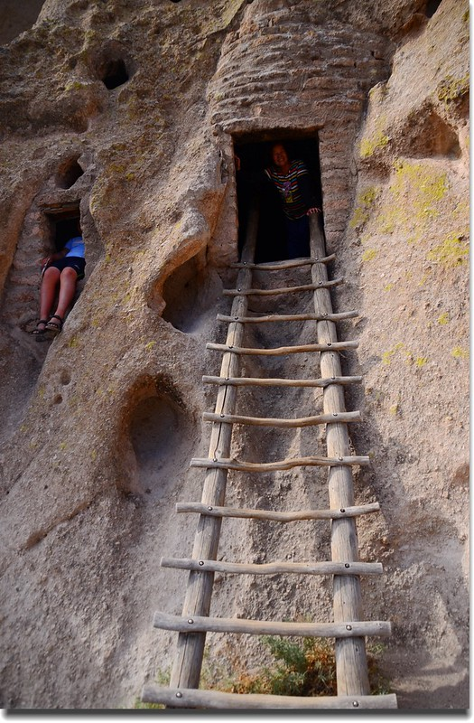 Wooden ladder leading to the Talus Houses