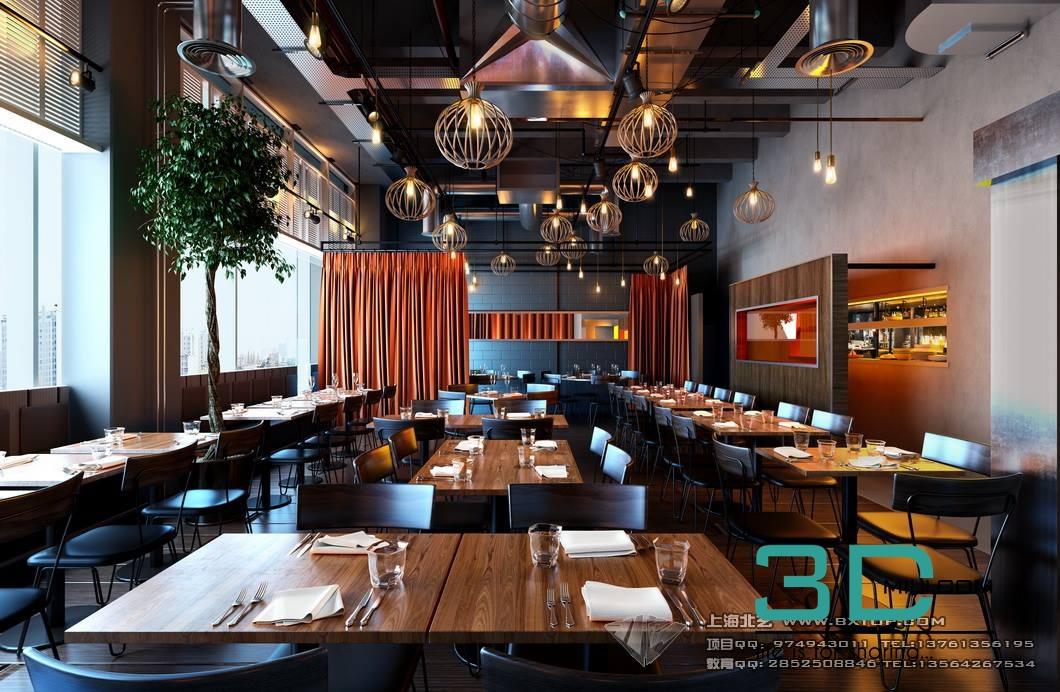 Restaurant 3dmili 3d Mili Download 3d Model Free 3d
